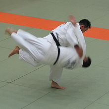 photo of Harai goshi judo throw