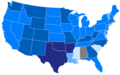 Harry Truman 1948 presidential election margin by states.tif