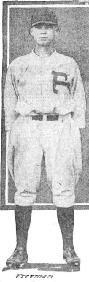 Harvey Freeman (baseball) - Freeman in 1922