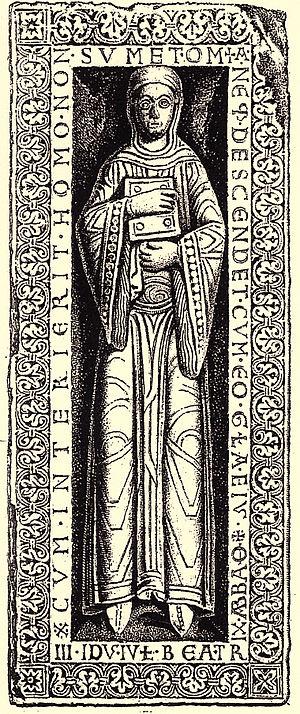 Beatrice I, Abbess of Quedlinburg - Image: Hase Quast 1877 S 11 Nr 2 Beatix I