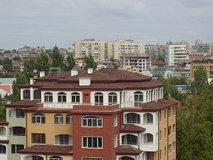 Haskovo as seen from Virgin Mary monument.jpg