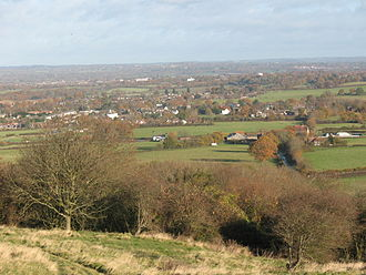 Hassocks - Hassocks viewed from the South Downs.