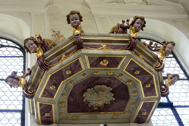 Haunsheim - Dreifaltigkeitskirche - Schalldeckel
