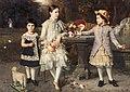 Heinrich Lauenstein - Gruppenbildnis der drei Töchter der Familie Hugo und Luise Schuchard, 1886.jpg