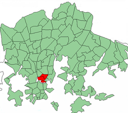 Position of Kallio within Helsinki