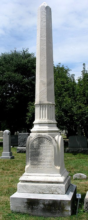 Archibald Henderson - The Henderson family monument in the Congressional cemetery, Washington DC