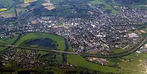 Hennef (Sieg) - Aerial view of Hennef, May 2008