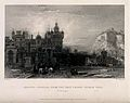 Heriot's Hospital, Edinburgh Castle from Grey Friars Church Wellcome V0012587.jpg