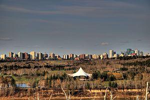 William Hawrelak Park - The Heritage Amphitheatre in the North Saskatchewan River valley