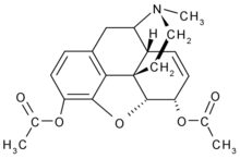Heroin chemical structure