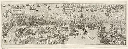 Het Staatse leger steekt de haven bij Nieuwpoort over, 1600, RP-P-OB-77.712