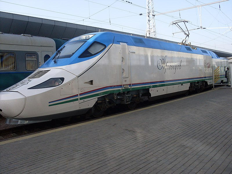 Hi-speed trains Afrosiyab (Uzbekistan).JPG