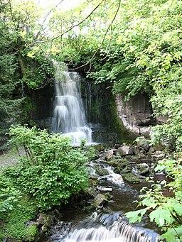 Hidden waterfall at Harmby - geograph.org.uk - 439795