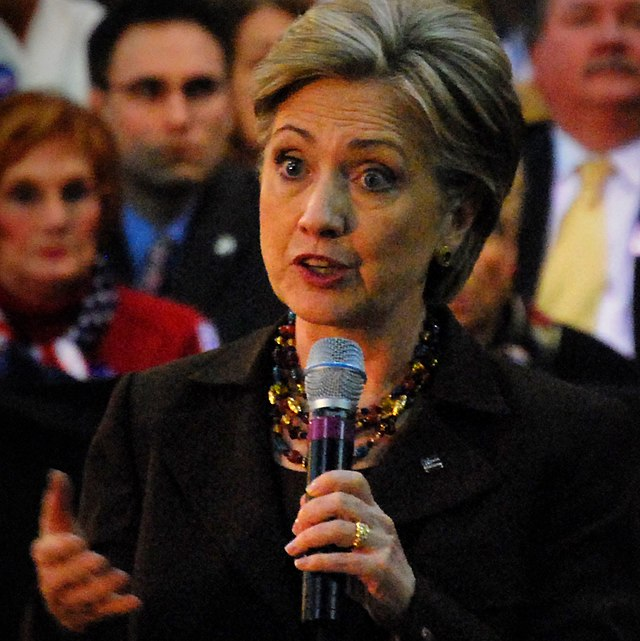 From commons.wikimedia.org: Hillary Clinton Lorain 2008 (cropped) {MID-142579}