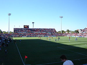 Adelaide United FC - Hindmarsh Stadium, home ground of Adelaide United