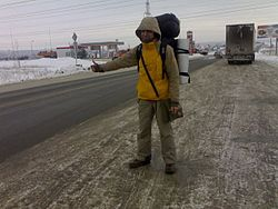 Hitchhiking in Russian winter.jpg