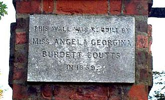 Holly Lodge Estate - Plaque from the north wall of the estate orchard