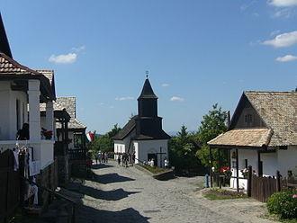 Nógrád County - Image: Hollókő Ófalu Fő utca (részlet)