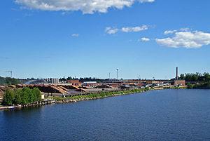 Holmsund - The Holmsund sawmill in 2012