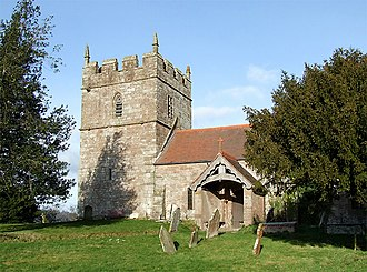 Grade I listed buildings in Shropshire - Image: Holy Trinity Church at Holdgate, Shropshire geograph.org.uk 671791
