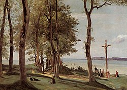 Jean-Baptiste Camille Corot: Honfleur: Calvary