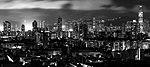 Hong Kong at night B&W.jpg