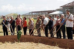 Honolulu Rail Transit - City and state politicians at the project's groundbreaking ceremony