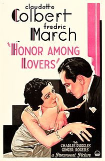 <i>Honor Among Lovers</i> 1931 film by Dorothy Arzner