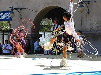 Native American Hoop Dance - Native American people performing a Hoop Dance