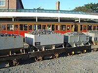 Hopper wagons on Talyllyn Railway - 2009-01-01.jpg