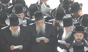 Boston (Hasidic dynasty) -  L-to-R, Admor Grand Rabbi Pinchas Duvid Horowitz of New York, Admor Grand Rabbi Mayer Alter Horowitz of Jerusalem, Admor Grand Rabbi Naftali Yehudah Horowitz of Boston