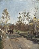 Horse and Cart on a Country Road.jpg