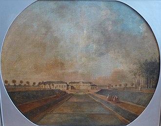 Jean-Pierre Houël - Image: Houel Vue du château de Chanteloup prise de la cascade – Musée des Beaux Arts, Tours