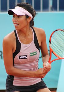 Hsieh Su-Wei al Mutua Madrid Open 2014