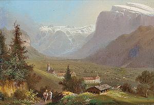 Engelberg - Hubert Sattler (1817–1904): View of Engelberg