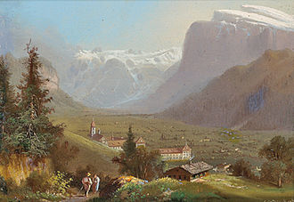 Engelberg - Hubert Sattler (1817–1904): View of Engelberg