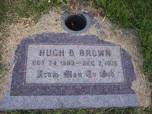Hugh B. Brown - Image: Hugh B Brown Grave