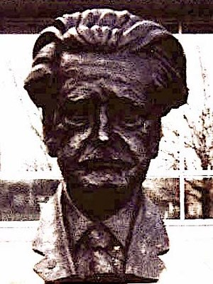 Literature in modern Scotland - A bust of Hugh MacDiarmid in South Gyle, Edinburgh, the major figure in the Scottish Literary Renaissance