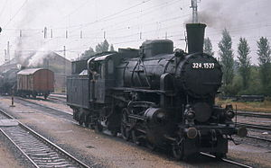 2-6-2 - Standard Hungarian Railways 2-6-2 of 324 class, introduced in 1909