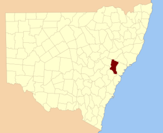 Hunter County - Location in New South Wales