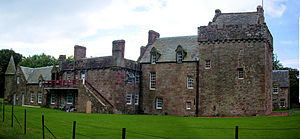 Hunterston Castle - The keep to the right with the later house to the left