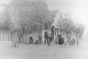 Huron, California - Huron Central Hotel in 1898