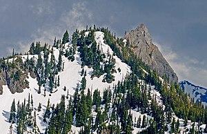 Hurricane Ridge - Snow in the Hurricane Ridge allows for skiing and snowboarding