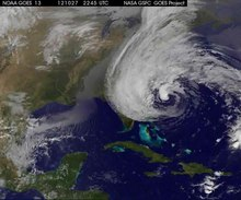 Datei: Hurricane Sandy NASA Satelliten Zeitraffer video.ogv