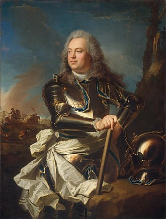 La Tour d'Auvergne - Louis Henri de La Tour d'Auvergne, comte d'Évreux, builder of Élysée Palace. Portrait by Hyacinthe Rigaud (ca. 1720), now in the Metropolitan Museum