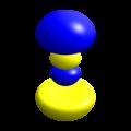Hydrogen eigenstate n3 l1 m0.png