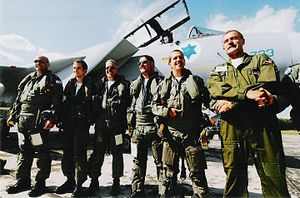 Shimshon Rozen - Rozen with Major-General Amir Eshel, Commander of the Israeli Air Force