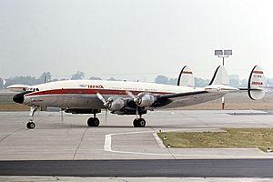 Iberia Airlines Flight 401 - Image: Iberia Lockheed L 1049G Super Constellation