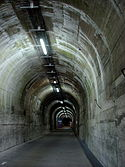 Railway tunnel at La Coupole