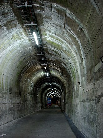 La Coupole - The Ida railway tunnel, where V-2s and supplies would be brought in by train and unloaded